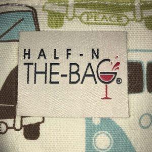 Half in the Bag Wine Bag VW Van Print